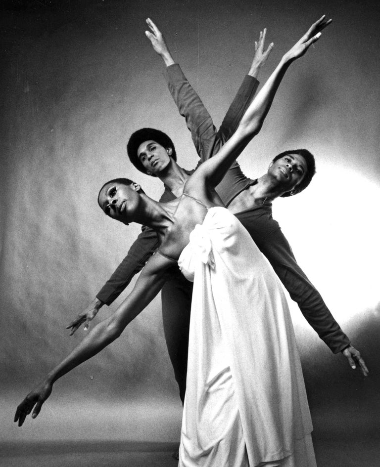 Judith Jamison, Clive Thompson & Kelvin Rotardier Alvin Ailey 'Mary Lou's Mass' - Photograph by Jack Mitchell