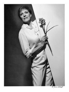 Julie Andrews starring in 'Victor Victoria' on Broadway, signed by Jack Mitchell