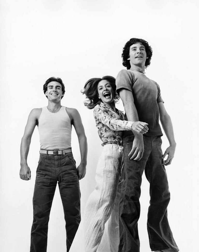 "11 x 14"" vintage silver gelatin photograph of Kevin Kline, Norman Snow and Patti LuPone, members of John Houseman's ""The Acting Company"", 1975. Signed by Jack Mitchell on the verso.  Comes directly from the Jack Mitchell Archives with a certificate"