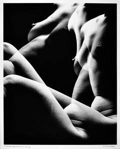 Large format vintage multiple exposure female nude, signed by Jack Mitchell