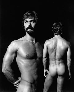 Male model 'Brahm' multiple exposure for After Dark, signed by Jack Mitchell