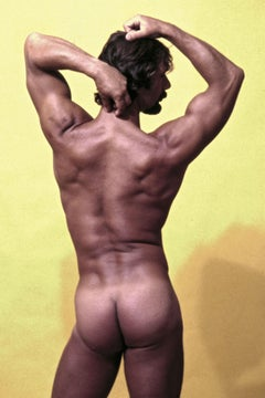 Male model 'Brahm', nude, signed by Jack Mitchell
