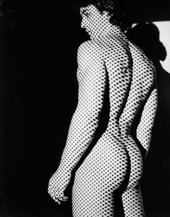 Male Model Brian Destazio, Dot Pattern Projection Nude, Signed by Jack Mitchell