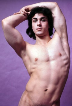 Male model Brian Destazio, nude, signed by Jack Mitchell
