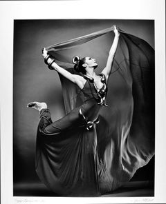 Martha Graham dancer Peggy Lyman in 'Phaedra's Dream' signed exhibition print