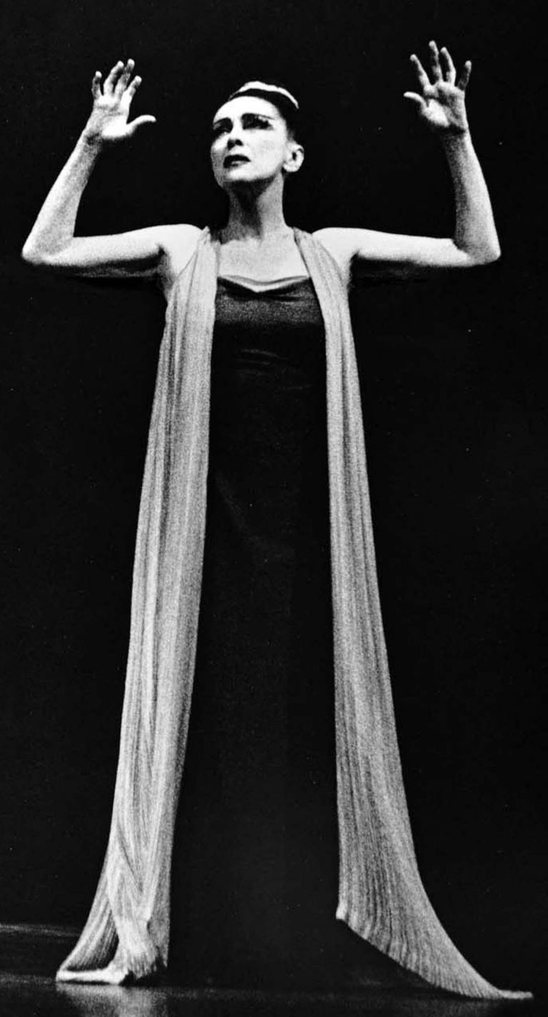 Martha Graham iconic premiere performance of 'Phaedra'. Signed by Jack Mitchell For Sale 1