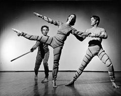 Merce Cunningham, Ellen Cornfield and Charles Moulton performing 'Signals'