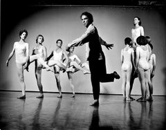 Merce Cunningham Performing with his Dance Company