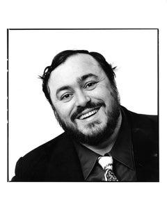 MET Opera Italian Operatic Tenor Luciano Pavarotti, signed by Jack Mitchell