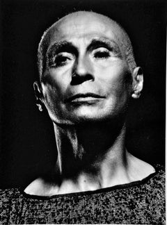 Modern dancer and choreographer Jose Limon in silver face makeup for 'Legend'
