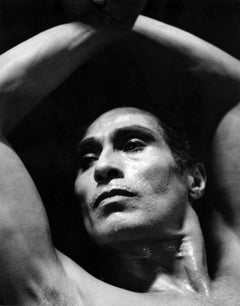 Modern dancer and choreographer Jose Limon performing, signed by Jack Mitchell
