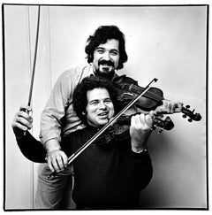 Musicians and friends Itzak Perlman and Pinchas Zukerman