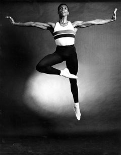New York City Ballet dancer Arthur Mitchell, signed by Jack Mitchell