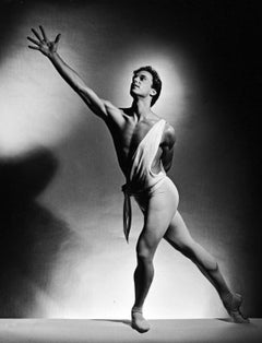 New York City Ballet dancer Peter Boal as 'Apollo', signed by Jack Mitchell