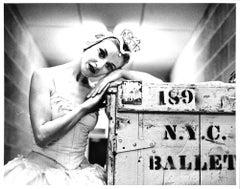 New York City Ballet dancer Violette Verdy backstage