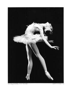 New York City Ballet Dancer Wendy Whelen in 'Swan Lake' signed by Jack Mitchell
