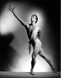 NYC Ballet dancer Peter Boal performing 'Apollo', Signed by Jack Mitchell