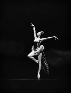 """NYCB Dancer Gelsey Kirkland performing """"Firebird"""", signed by Jack Mitchell"""