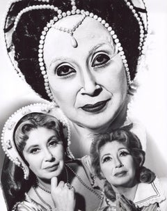 Operatic soprano Beverly Sills as Elizabeth I, Mary Stuart and Anne Boleyn