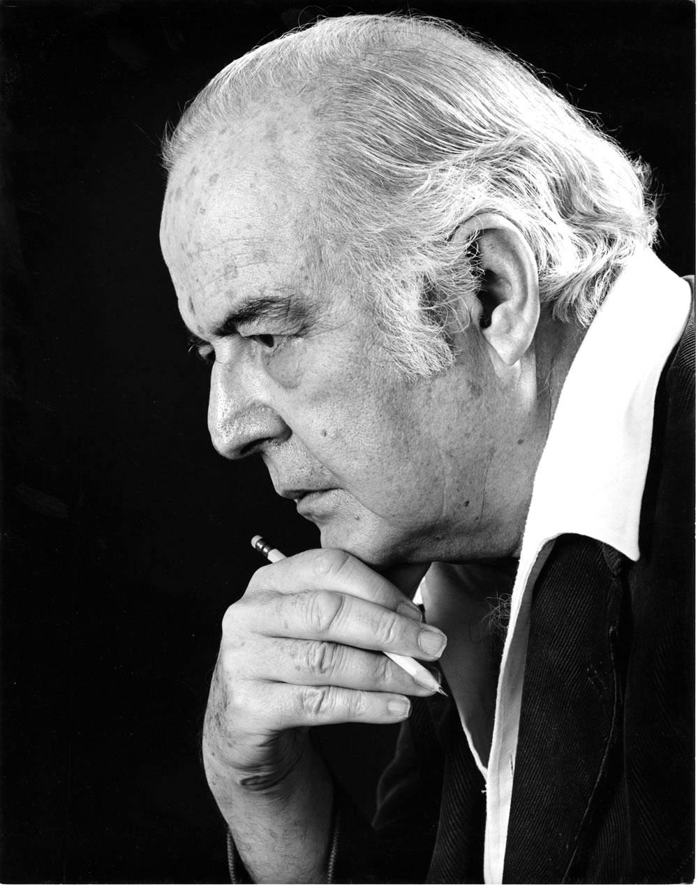 Orchestral, opera, and piano composer Samuel Barber, signed by Jack Mitchell