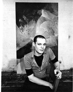 Painter Stephen Mueller in his Manhattan Studio