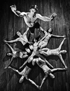 Paul Taylor and his dancers performing 'Private Domain' signed by Jack Mitchell
