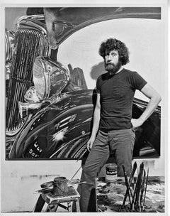 Photorealist painter Tom Blackwell in his Manhattan studio with new work
