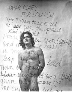 Poet/Photographer/Andy Warhol assistant Gerard Malanga, nude multiple exposure