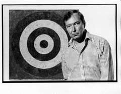 Pop Artist Jasper Johns at the Whitney Museum exhibition of his work