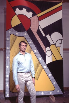 "Pop Artist Roy Lichtenstein in his Studio, Color 17 x 22"" Exhibition Photograph"