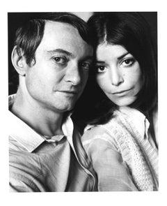 Pop Artist Roy Lichtenstein & wife Dorothy, signed by Jack Mitchell