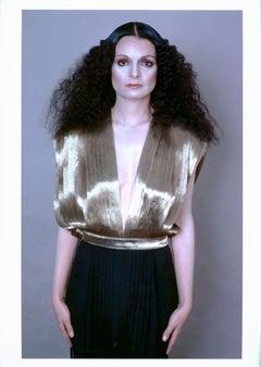 Portrait of American fashion designer Norma Kamali