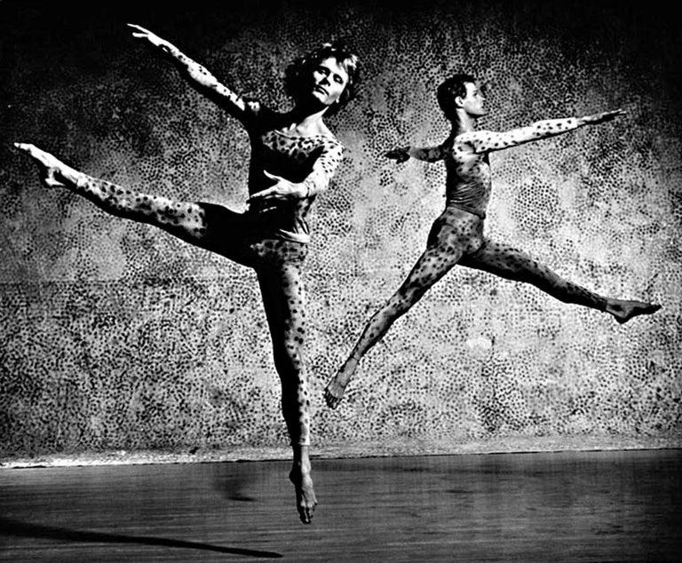 Robert Kovak & Chris Komar performing Merce Cunningham's 'Summerspace', signed - Photograph by Jack Mitchell