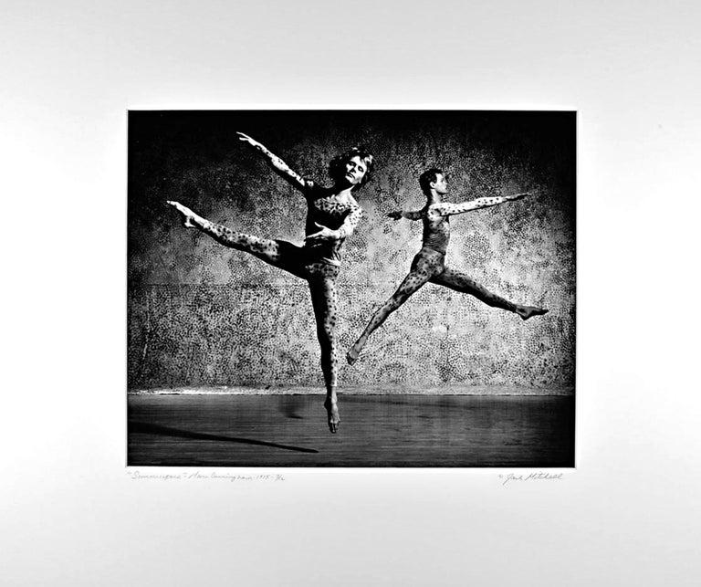 Jack Mitchell Black and White Photograph - Robert Kovak & Chris Komar performing Merce Cunningham's 'Summerspace', signed