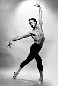 Royal Ballet dancer Anthony Dowell, signed by Jack Mitchell