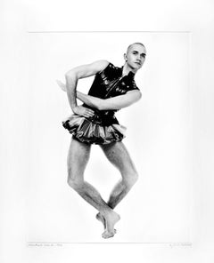 Scottish dancer & choreographer Michael Clark (age 23), signed exhibition print