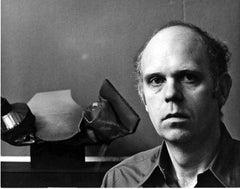 Sculptor Claes Oldenburg in his Manhattan studio, signed by Jack Mitchell