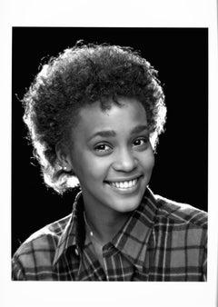 Singer Whitney Houston - first professional photo session portrait