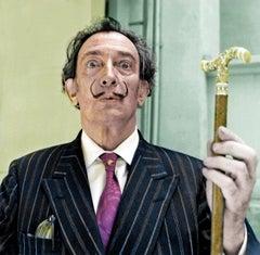 "Spanish Surrealist Artist Salvador Dali, 17 x 22"" Exhibition Photograph"
