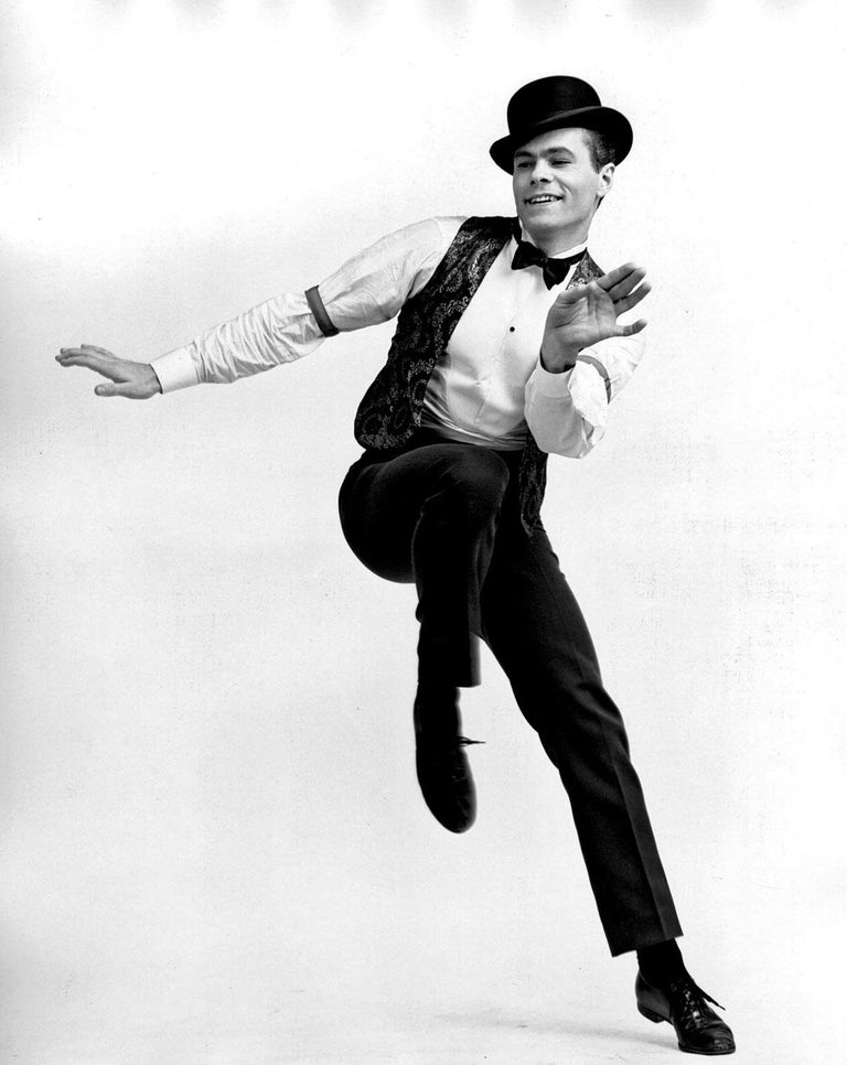 """Jack Mitchell Black and White Photograph - Swen Swenson in """"Little Me"""" on Broadway"""