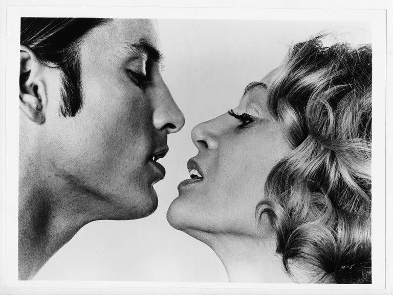Jack Mitchell Black and White Photograph - Sylvia Miles andJoe Dallesandro inAndy Warhol's 'Heat', March 1972.