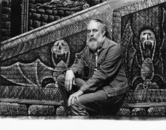 Tony Award-winning artist Edward Gorey on his set for Broadway's 'Dracula'