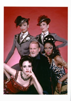 "Tony Award-winning choreographer Bob Fosse with the cast of ""Big Deal"""