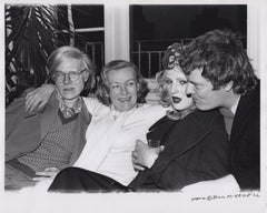 Veronica Lake at a party w/ Andy Warhol, Candy Darling and Paul Morrissey