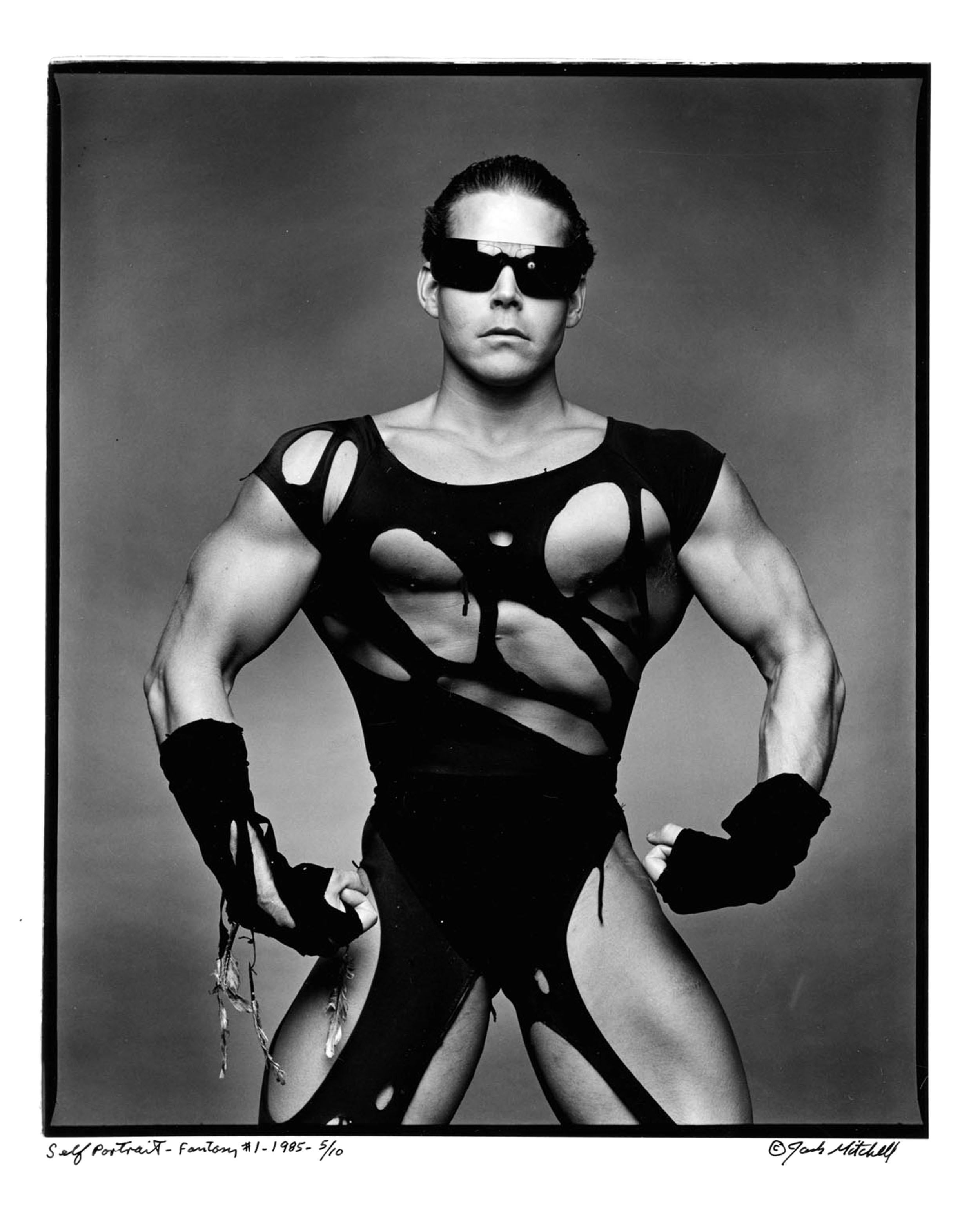 Von Hackendahl, Bodybuilder/Model, signed by Jack Mitchell
