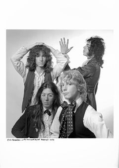 """Warhol Superstar Eric Emerson with his rock group """"Messiah"""" (AKA """"Magic Tramps"""")"""