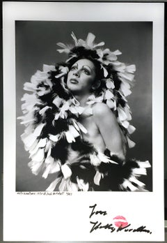 Warhol Superstar Holly Woodlawn personally autographed & kissed Limited Edition