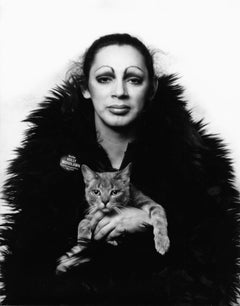 Warhol Superstar Holly Woodlawn, signed by Jack Mitchell