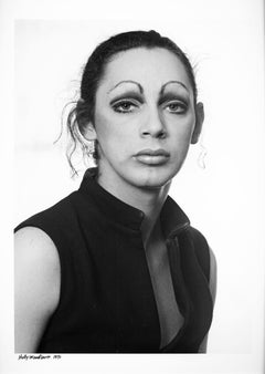 Warhol Superstar Holly Woodlawn (taken for Holly's passport)