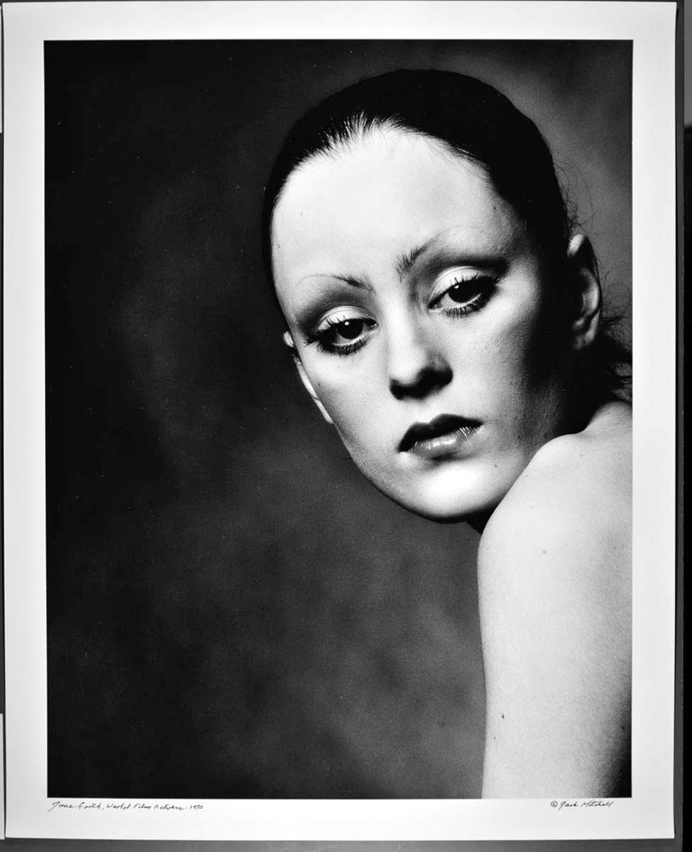 """16 x20"""" vintage silver gelatin photograph of Warhol Superstar Jane Forth, signed by Jack Mitchell on the verso. Comes directly from the Jack Mitchell Archives with a certificate of authenticity.   Jack Mitchell, (1925-2013) bulging photographic"""